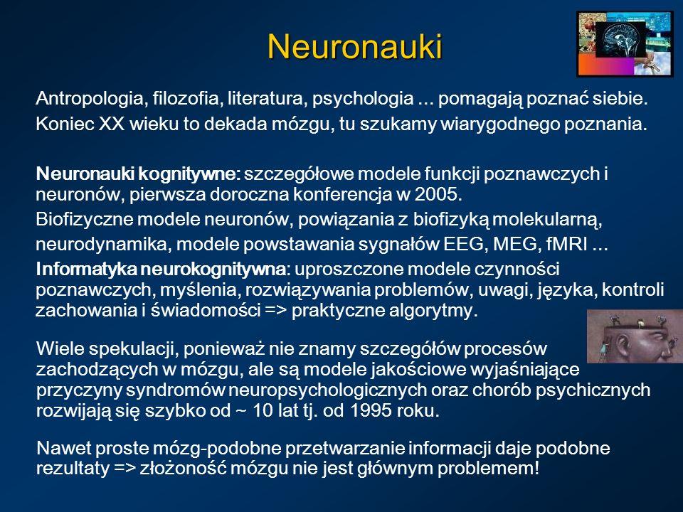 Neuronauki Antropologia, filozofia, literatura, psychologia... pomagają poznać siebie. Koniec XX wieku to dekada mózgu, tu szukamy wiarygodnego poznan