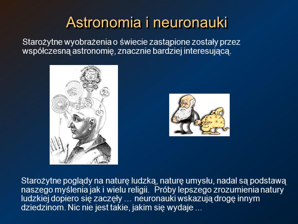 Astronomia i neuronauki Starożytne wyobrażenia o świecie zastąpione zostały przez współczesną astronomię, znacznie bardziej interesującą. Starożytne p