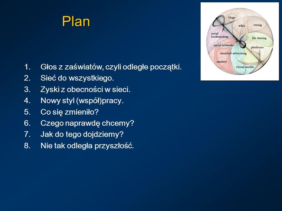 Plan 1.Głos z zaświatów, czyli odległe początki. 2.Sieć do wszystkiego.