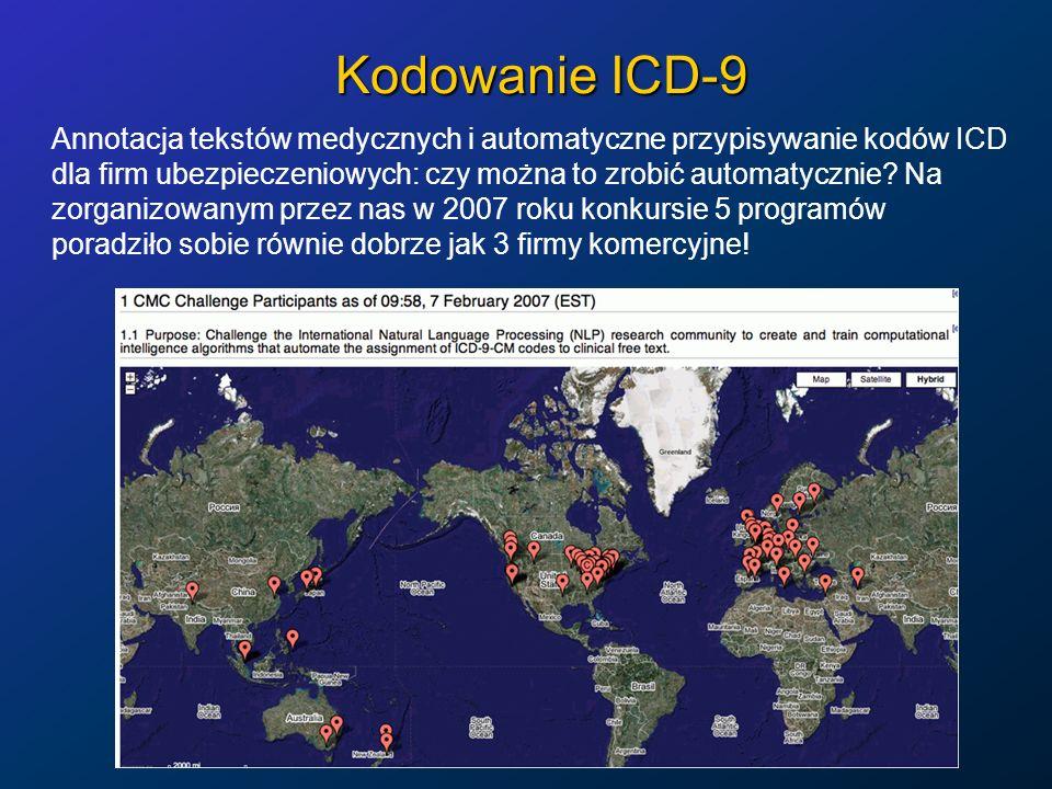 Kodowanie ICD-9 Annotacja tekstów medycznych i automatyczne przypisywanie kodów ICD dla firm ubezpieczeniowych: czy można to zrobić automatycznie? Na