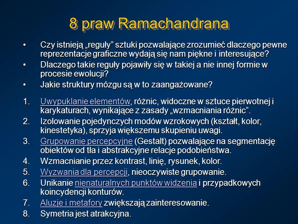 8 praw Ramachandrana Czy istnieją reguły sztuki pozwalające zrozumieć dlaczego pewne reprezentacje graficzne wydają się nam piękne i interesujące?Czy