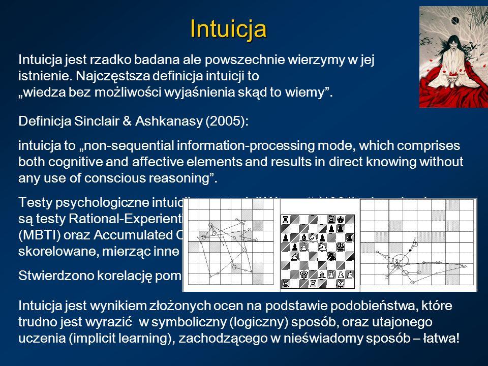 Intuicja Intuicja jest rzadko badana ale powszechnie wierzymy w jej istnienie.