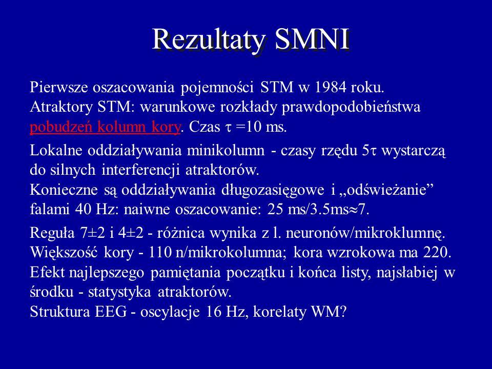 SMNI Lester Ingber, od 1983 r, SMNI, Statistical Mechanics of Neocortical Interactions (Phys. Rev. A & E). Teoria statystyczna, uśrednianie po mikro i
