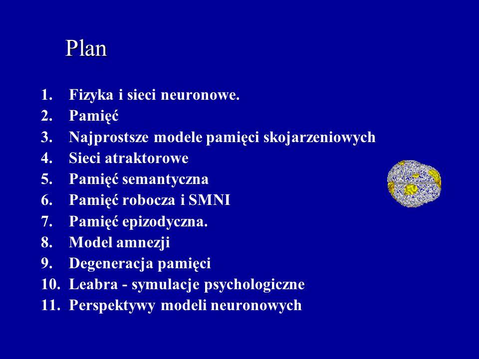 Plan 1.Fizyka i sieci neuronowe.