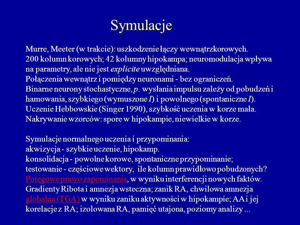 Amnezja semantyczna Główna przyczyna: uszkodzenie łączy wewnątrzkorowych. Objawy: Trudności w znajdowaniu słów, rozumieniu, zapamiętanie nowych faktów