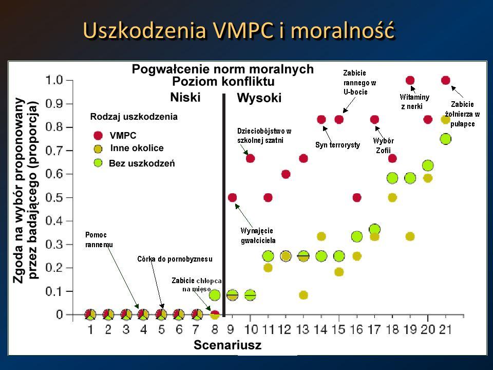 Uszkodzenia VMPC i moralność
