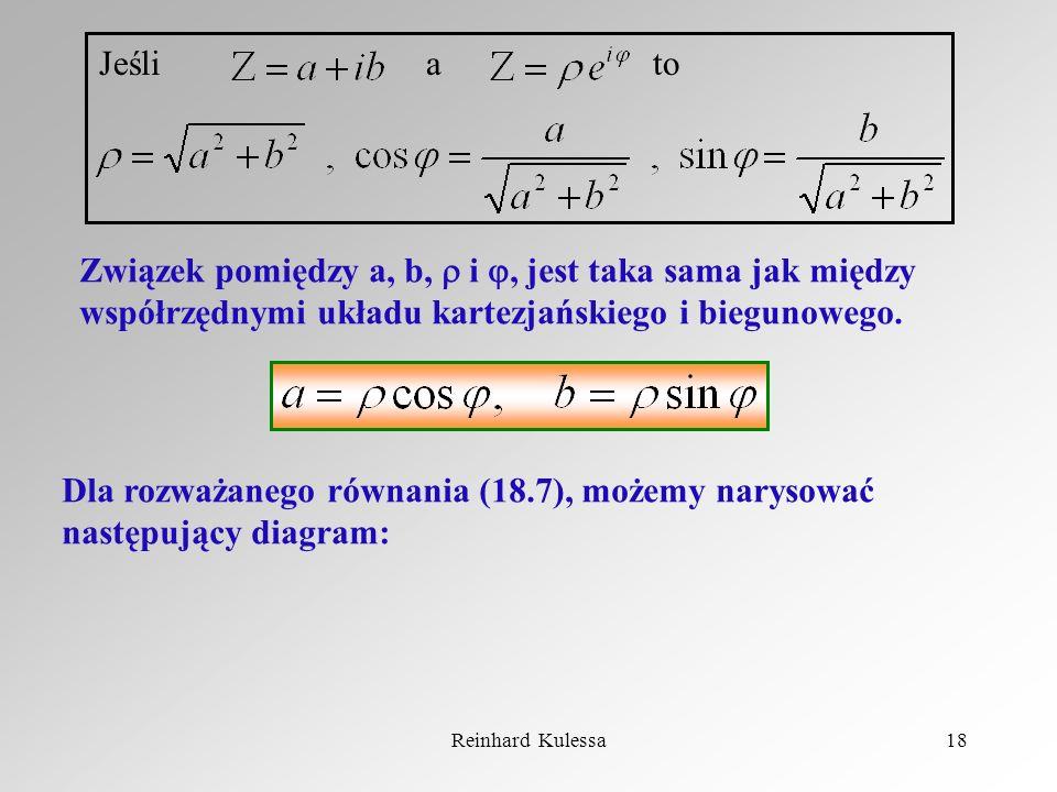 Reinhard Kulessa18 Jeśli a to Związek pomiędzy a, b, i, jest taka sama jak między współrzędnymi układu kartezjańskiego i biegunowego. Dla rozważanego