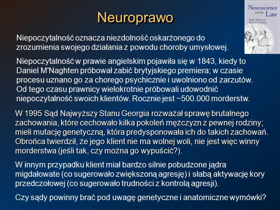 NeuroprawoNeuroprawo W 1995 Sąd Najwyższy Stanu Georgia rozważał sprawę brutalnego zachowania, które cechowało kilka pokoleń mężczyzn z pewnej rodziny