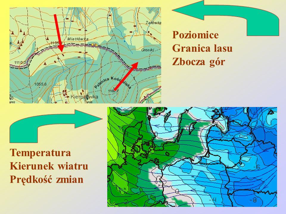 Reinhard Kulessa9 Poziomice Granica lasu Zbocza gór Temperatura Kierunek wiatru Prędkość zmian