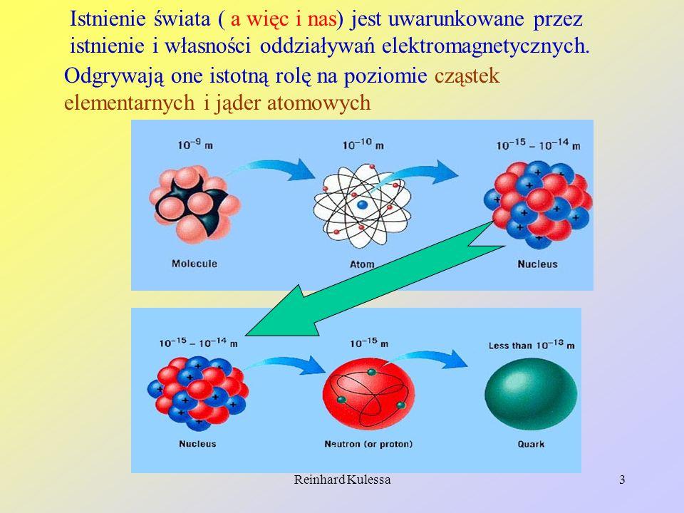 Reinhard Kulessa4 Cząstki te oddziaływują pomiędzy sobą również przez oddziaływanie elektromagnetyczne.