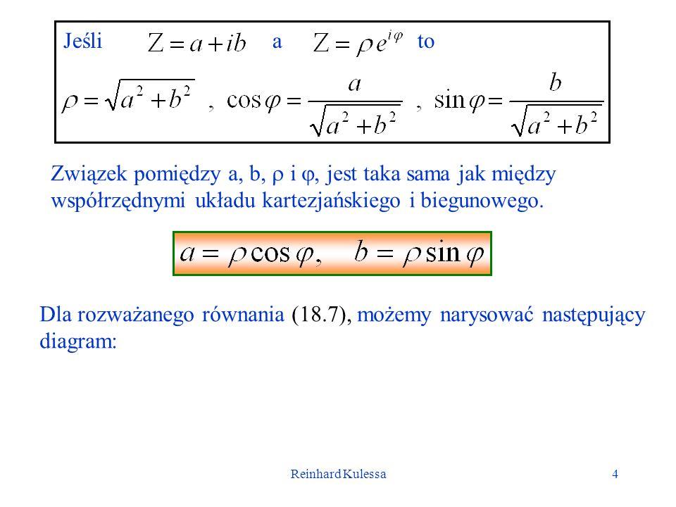 Reinhard Kulessa5 (t) R (R 2 + 2 L 2 ) 1/2 t L (t) Z przedstawionego rysunku możemy odczytać, że wyrażenie w nawiasie kwadratowym we wzorze (18.7) jest równe:, A przesunięcie fazowe liczymy z wzoru.