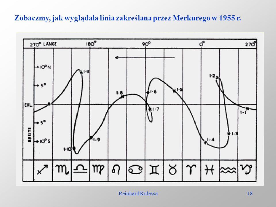 Reinhard Kulessa18 Zobaczmy, jak wyglądała linia zakreślana przez Merkurego w 1955 r.