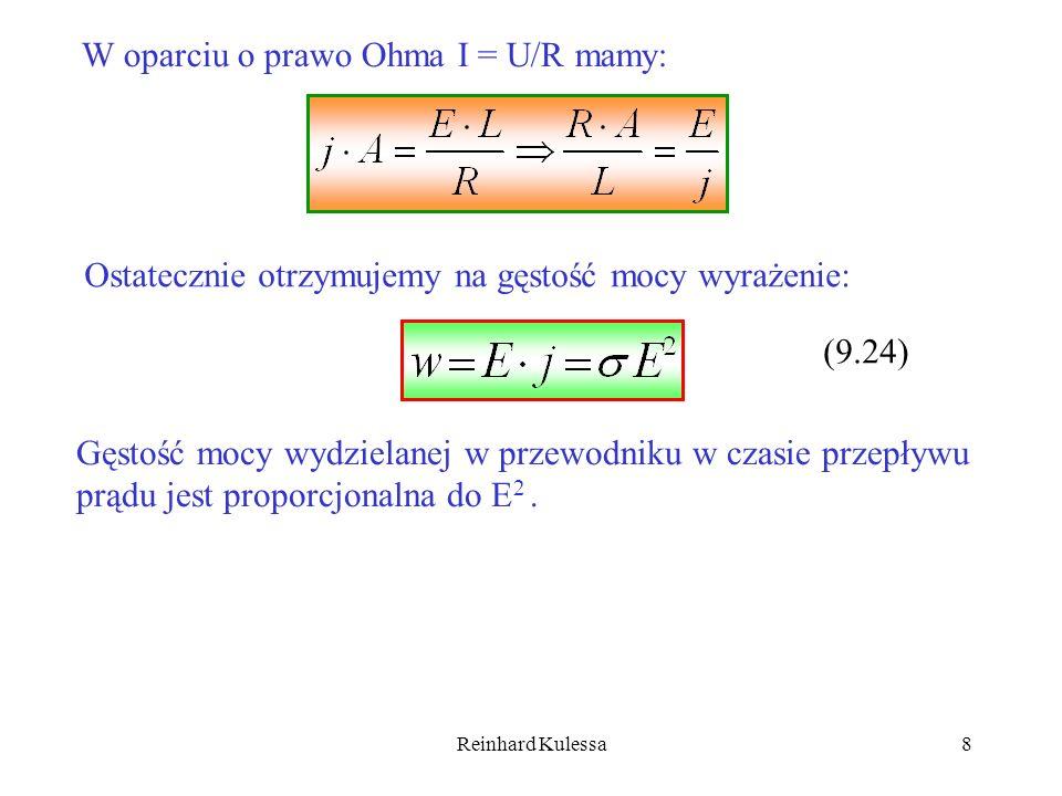 Reinhard Kulessa19 Całkowity opór takiego połączenia wynosi; Natężenie prądu, które popłynie w obwodzie, gdy włączymy baterię w obwód o oporze R z, będzie równe; Gdy mamy łącznie (m · n) ogniw, uzyskamy maksymalny prąd, gdy;.