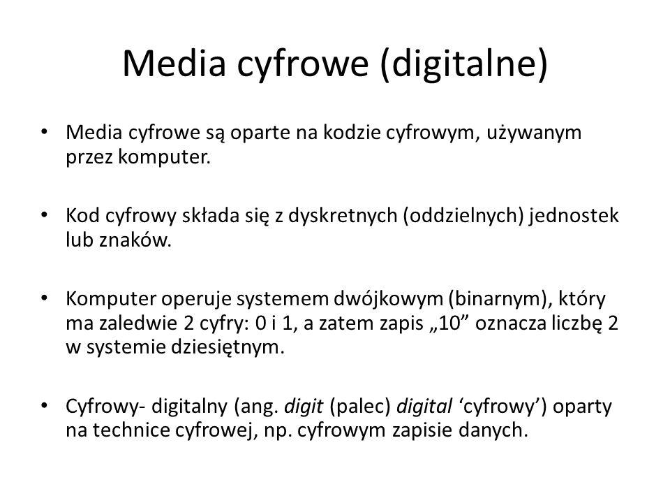 Media społeczne - przykłady Blogs: Blogger, LiveJournal, Open Diary, TypePad, WordPress, Vox, ExpressionEngine, Xanga Micro-blogging / Presence applications: Twitter, Plurk, Tumblr, Jaiku, fmylife Social networking: Bebo, BigTent, Facebook, LinkedIn, MySpace, Orkut, Skyrock, Hi5, Ning, Elgg, Drupal Social network aggregation: NutshellMail, FriendFeed Events: Upcoming, Eventful, Meetup.com