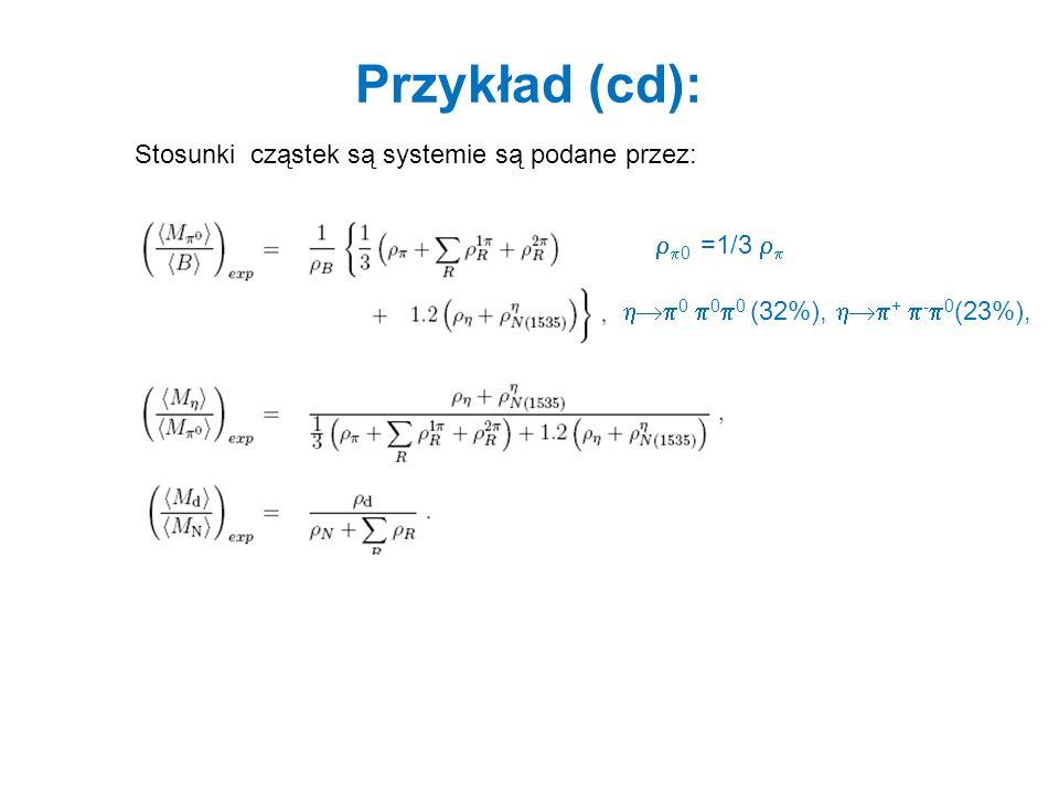 Krzywe zakrzepnięcia ustalone R C =5 fm zmiany T c, przy ustalonych stosunkach cząstek 1.