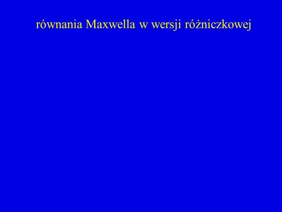 równania Maxwella w wersji różniczkowej