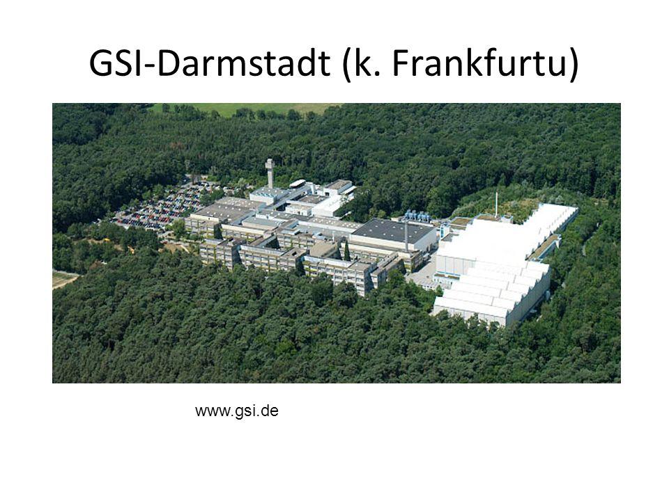 GSI-Darmstadt (k. Frankfurtu) www.gsi.de