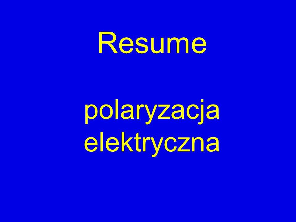 Resume polaryzacja elektryczna