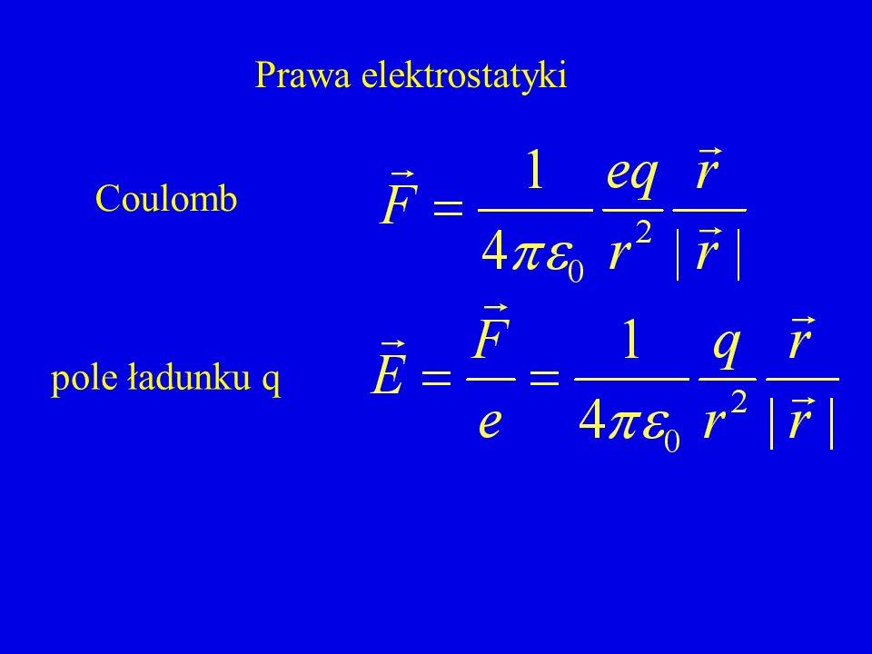 Prawa elektrostatyki Coulomb pole ładunku q