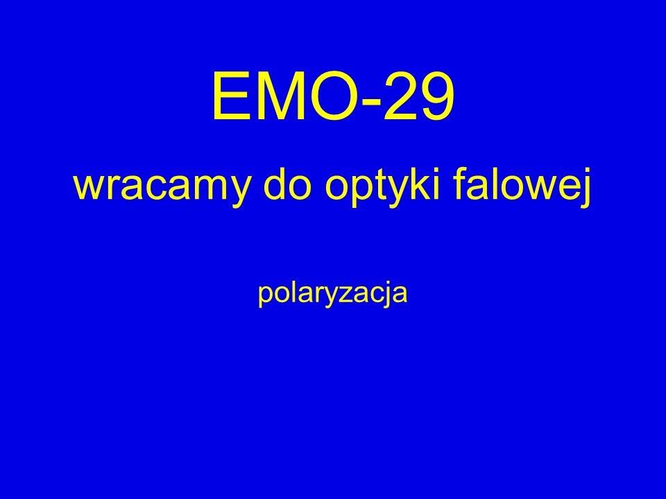 EMO-29 wracamy do optyki falowej polaryzacja