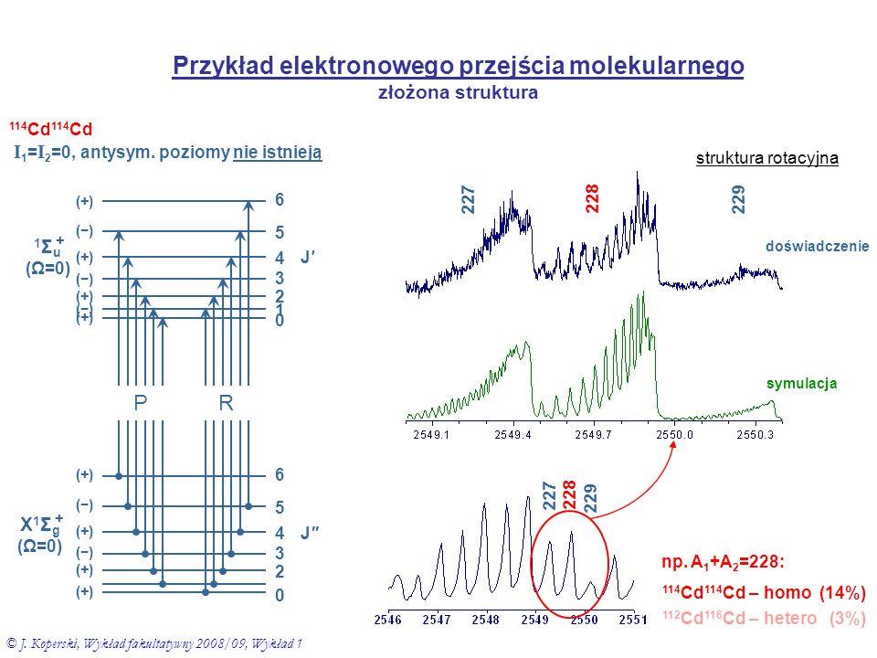 Interpretacja widm molekularnych - uzyskiwane informacje - widma rotacyjne.