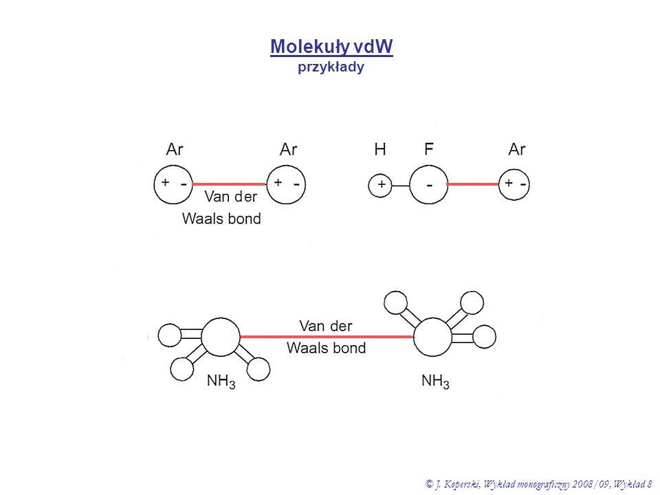 Molekuły vdW przykłady © J. Koperski, Wykład monograficzny 2008/09, Wykład 8