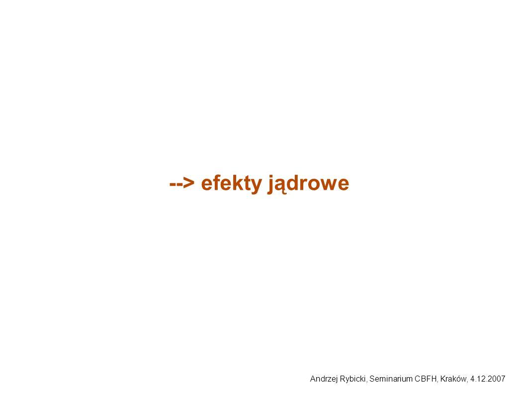 Andrzej Rybicki, Seminarium CBFH, Kraków, 4.12.2007 --> efekty jądrowe