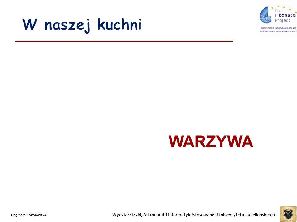 Wydział Fizyki, Astronomii i Informatyki Stosowanej Uniwersytetu Jagiellońskiego Dagmara Sokołowska WARZYWA