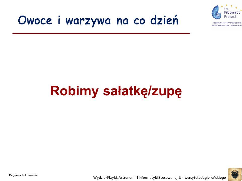 Robimy sałatkę/zupę Wydział Fizyki, Astronomii i Informatyki Stosowanej Uniwersytetu Jagiellońskiego Dagmara Sokołowska