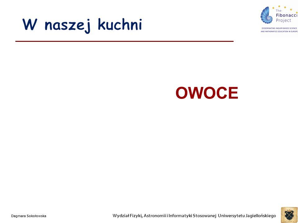 Wydział Fizyki, Astronomii i Informatyki Stosowanej Uniwersytetu Jagiellońskiego Dagmara Sokołowska OWOCE