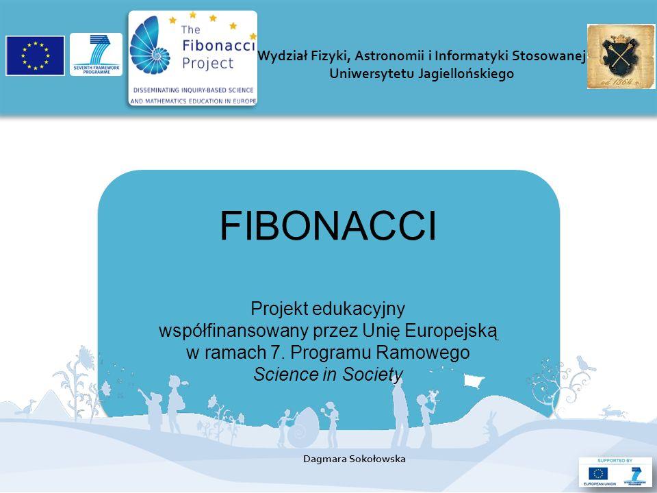 FIBONACCI Projekt edukacyjny współfinansowany przez Unię Europejską w ramach 7.