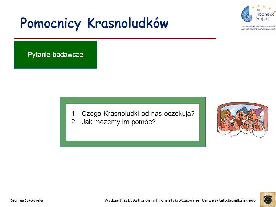 Wydział Fizyki, Astronomii i Informatyki Stosowanej Uniwersytetu Jagiellońskiego Dagmara Sokołowska 1.Czego Krasnoludki od nas oczekują.