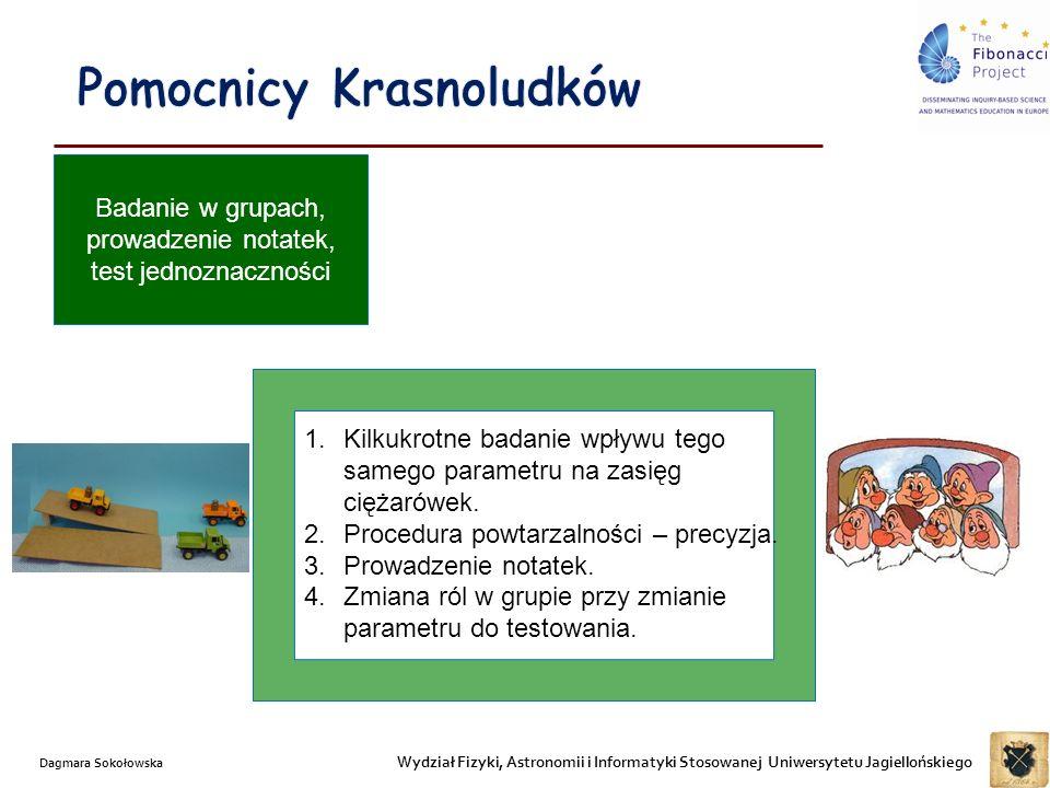 Wydział Fizyki, Astronomii i Informatyki Stosowanej Uniwersytetu Jagiellońskiego Dagmara Sokołowska 1.Kilkukrotne badanie wpływu tego samego parametru na zasięg ciężarówek.