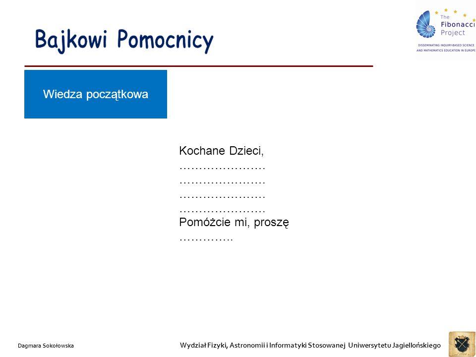 Wydział Fizyki, Astronomii i Informatyki Stosowanej Uniwersytetu Jagiellońskiego Dagmara Sokołowska 1.Czego Kopciuszek od nas oczekuje.