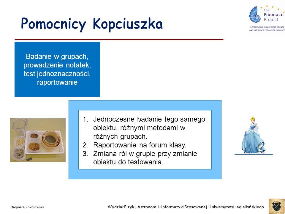 Wydział Fizyki, Astronomii i Informatyki Stosowanej Uniwersytetu Jagiellońskiego Dagmara Sokołowska 1.Jednoczesne badanie tego samego obiektu, różnymi metodami w różnych grupach.
