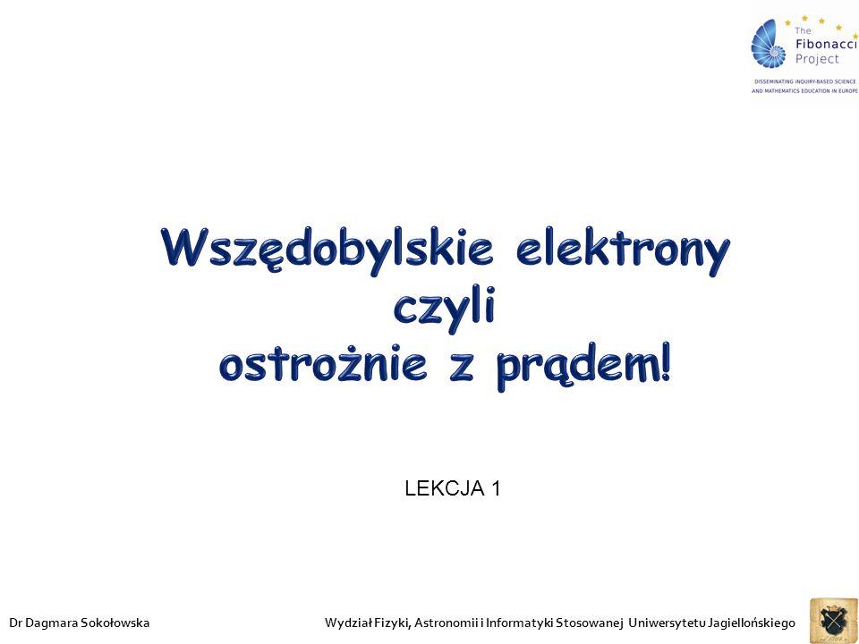 Wydział Fizyki, Astronomii i Informatyki Stosowanej Uniwersytetu JagiellońskiegoDr Dagmara Sokołowska LEKCJA 1