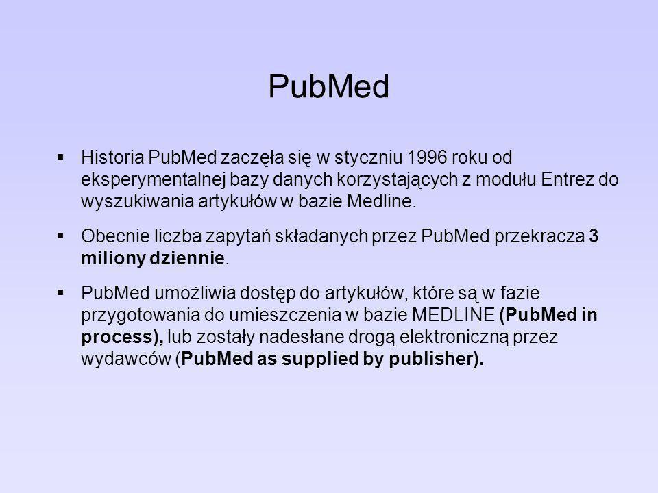 PubMed Dzięki funkcji LinkOut ze znalezionych publikacji można przejść bezpośrednio do pełnych wersji artykułów dostępnych najczęściej odpłatnie na stronie wydawcy.