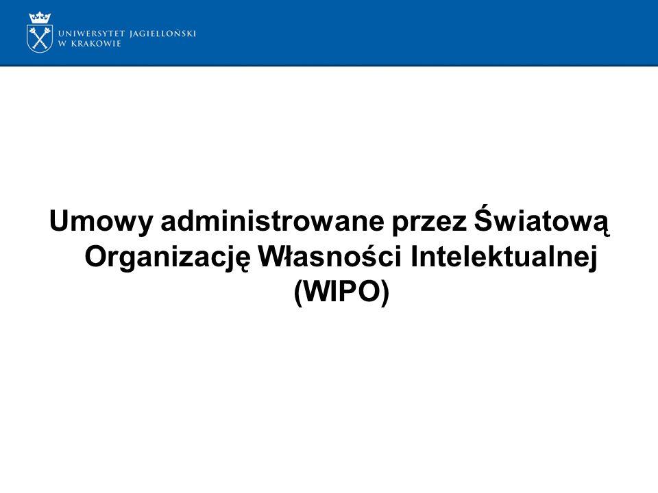 Umowy administrowane przez Światową Organizację Własności Intelektualnej (WIPO)