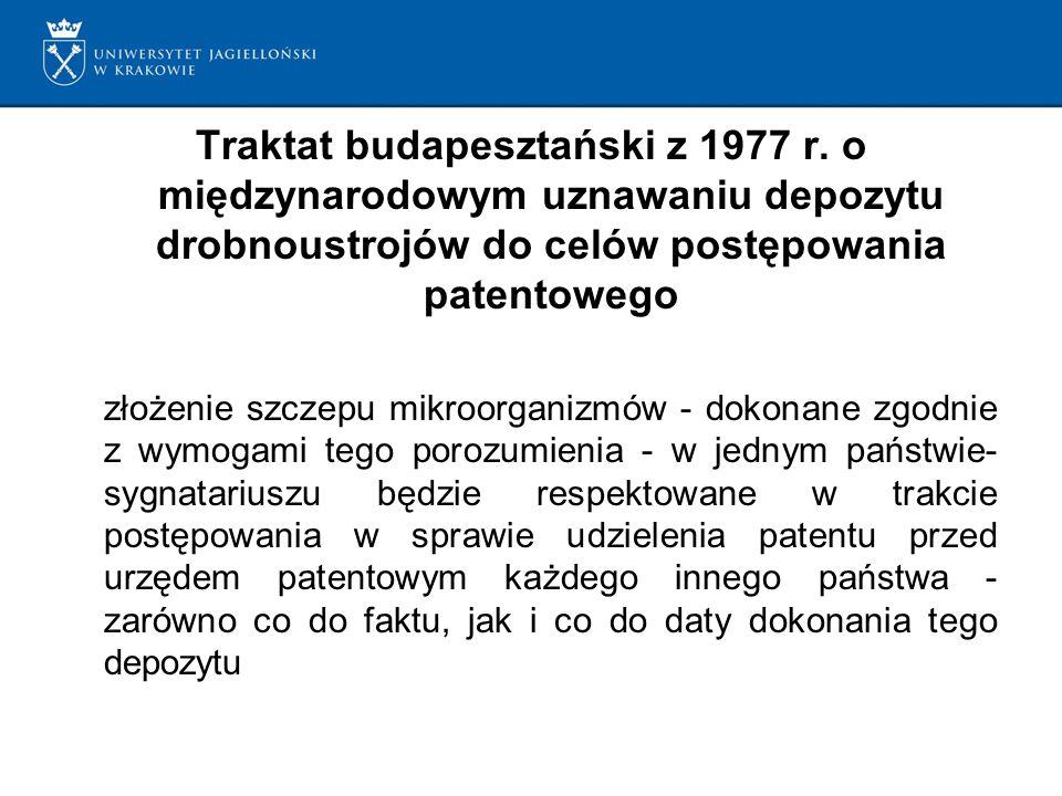 Traktat budapesztański z 1977 r.