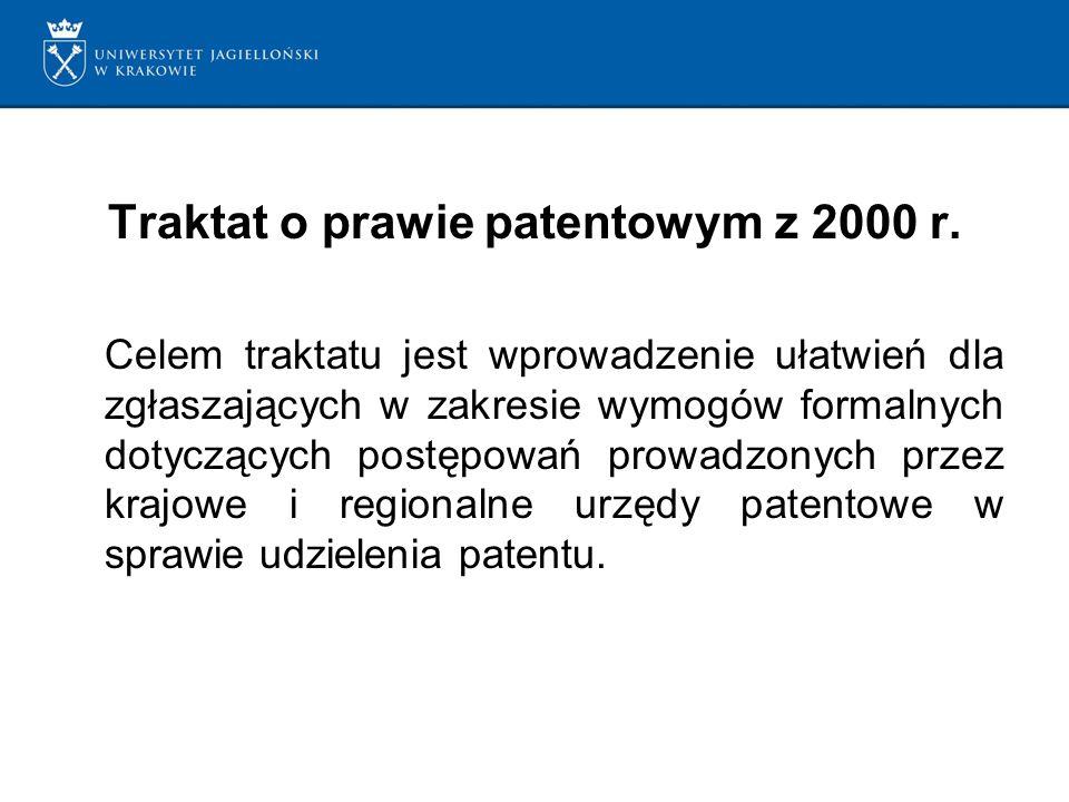 Traktat o prawie patentowym z 2000 r.