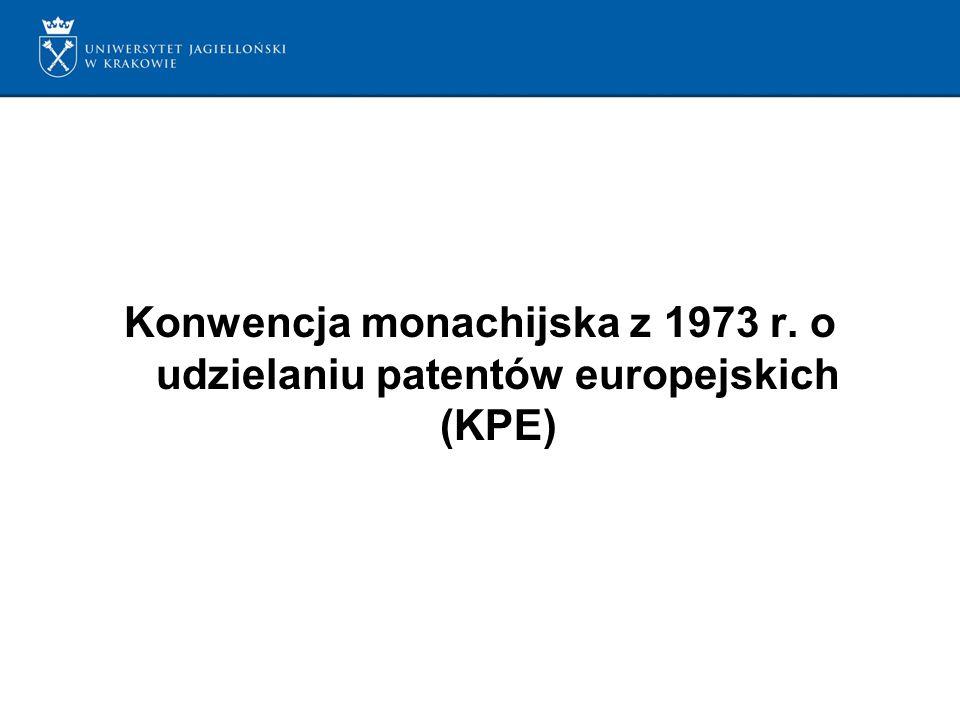 Konwencja monachijska z 1973 r. o udzielaniu patentów europejskich (KPE)