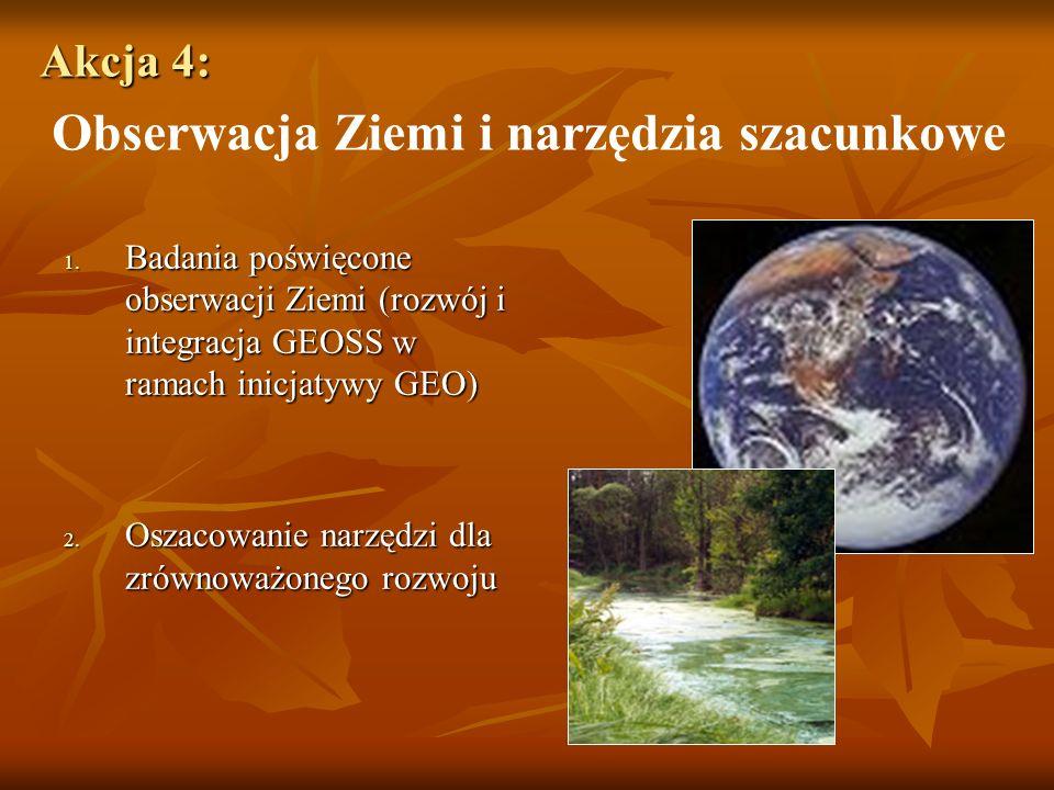 Akcja 4: Akcja 4: Obserwacja Ziemi i narzędzia szacunkowe 1.