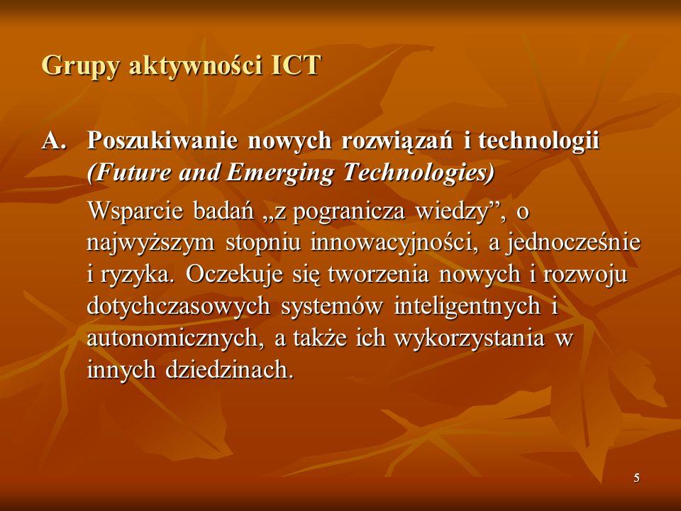 5 Grupy aktywności ICT A.