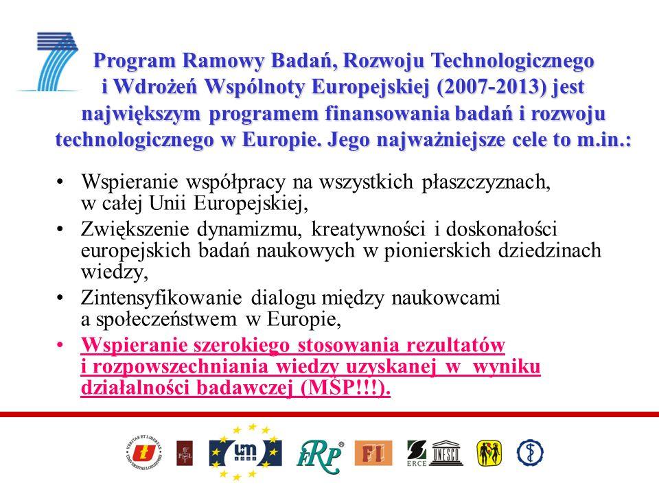 Program Ramowy Badań, Rozwoju Technologicznego i Wdrożeń Wspólnoty Europejskiej (2007-2013) jest największym programem finansowania badań i rozwoju te