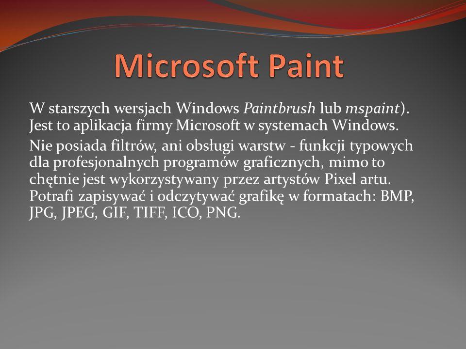 W starszych wersjach Windows Paintbrush lub mspaint). Jest to aplikacja firmy Microsoft w systemach Windows. Nie posiada filtrów, ani obsługi warstw -