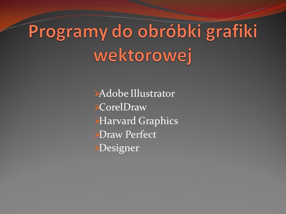 Adobe Illustrator CorelDraw Harvard Graphics Draw Perfect Designer