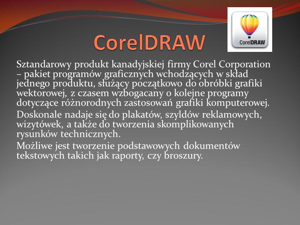 Sztandarowy produkt kanadyjskiej firmy Corel Corporation – pakiet programów graficznych wchodzących w skład jednego produktu, służący początkowo do ob