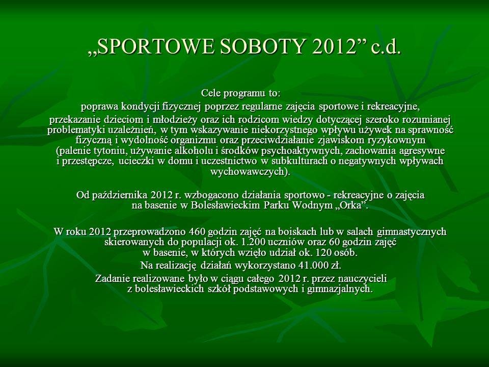 SPORTOWE SOBOTY 2012 c.d.