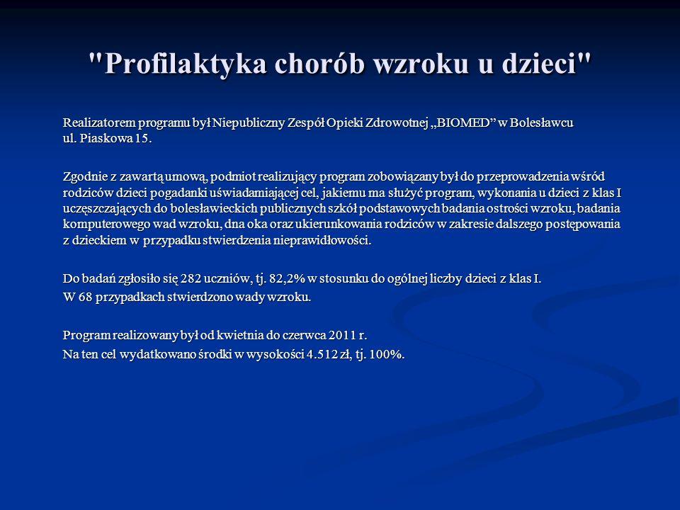 Profilaktyka walki z rakiem piersi – niesienie pomocy kobietom po mastektomii Bolesławiecki Klub Amazonek realizował zadanie Profilaktyka walki z rakiem piersi – niesienie pomocy kobietom po mastektomii.