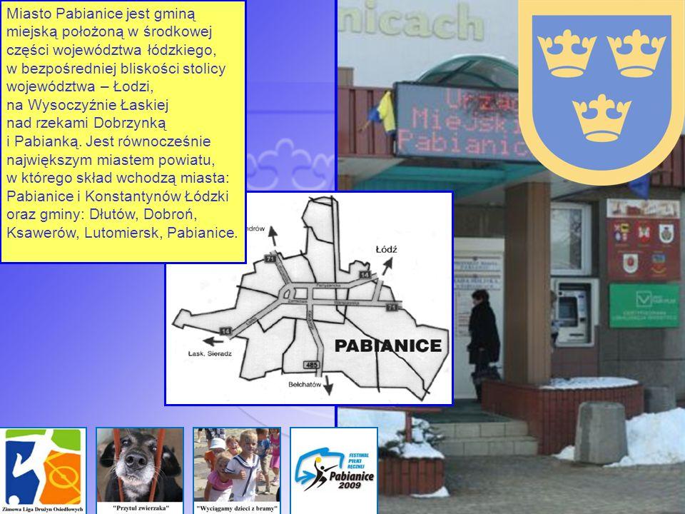 Miasto Pabianice jest gminą miejską położoną w środkowej części województwa łódzkiego, w bezpośredniej bliskości stolicy województwa – Łodzi, na Wysoc